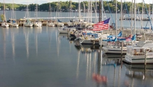 Old Glory in Sodus BayJPG2
